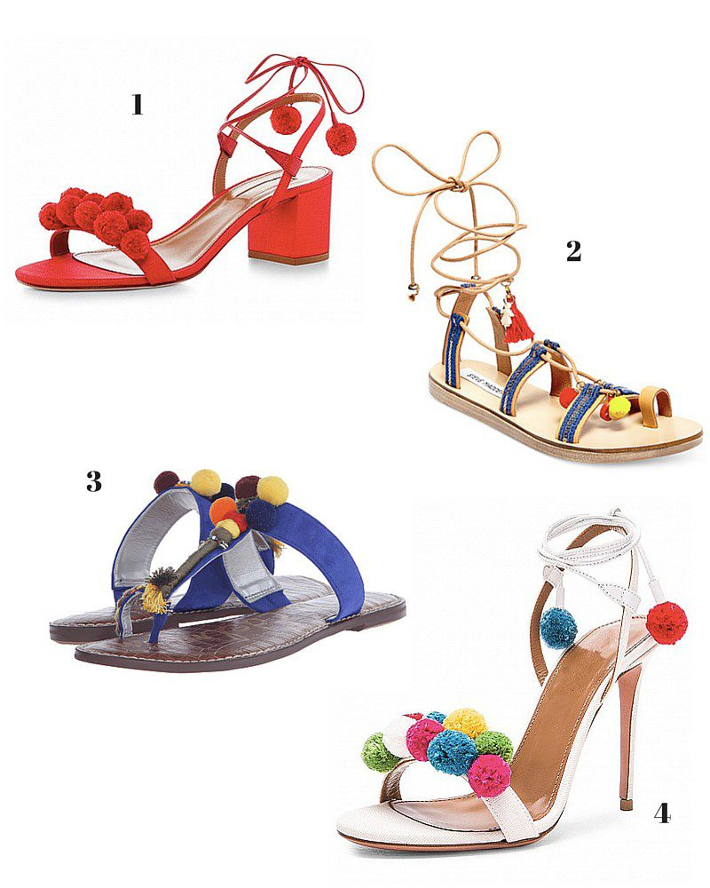 wednesday windup: our favorite pom pom sandals