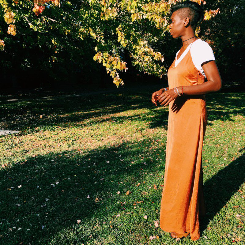 slay alert: slip dress + choker