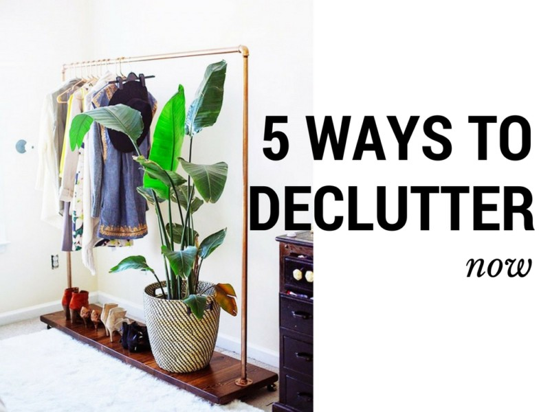 Five Simple Tips to Declutter Your Closet